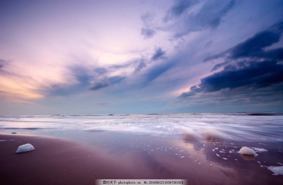 夕阳天空 天空 梦幻 蓝色 夕阳 黄昏 摄影 旅游摄影 自然风景 300dpi