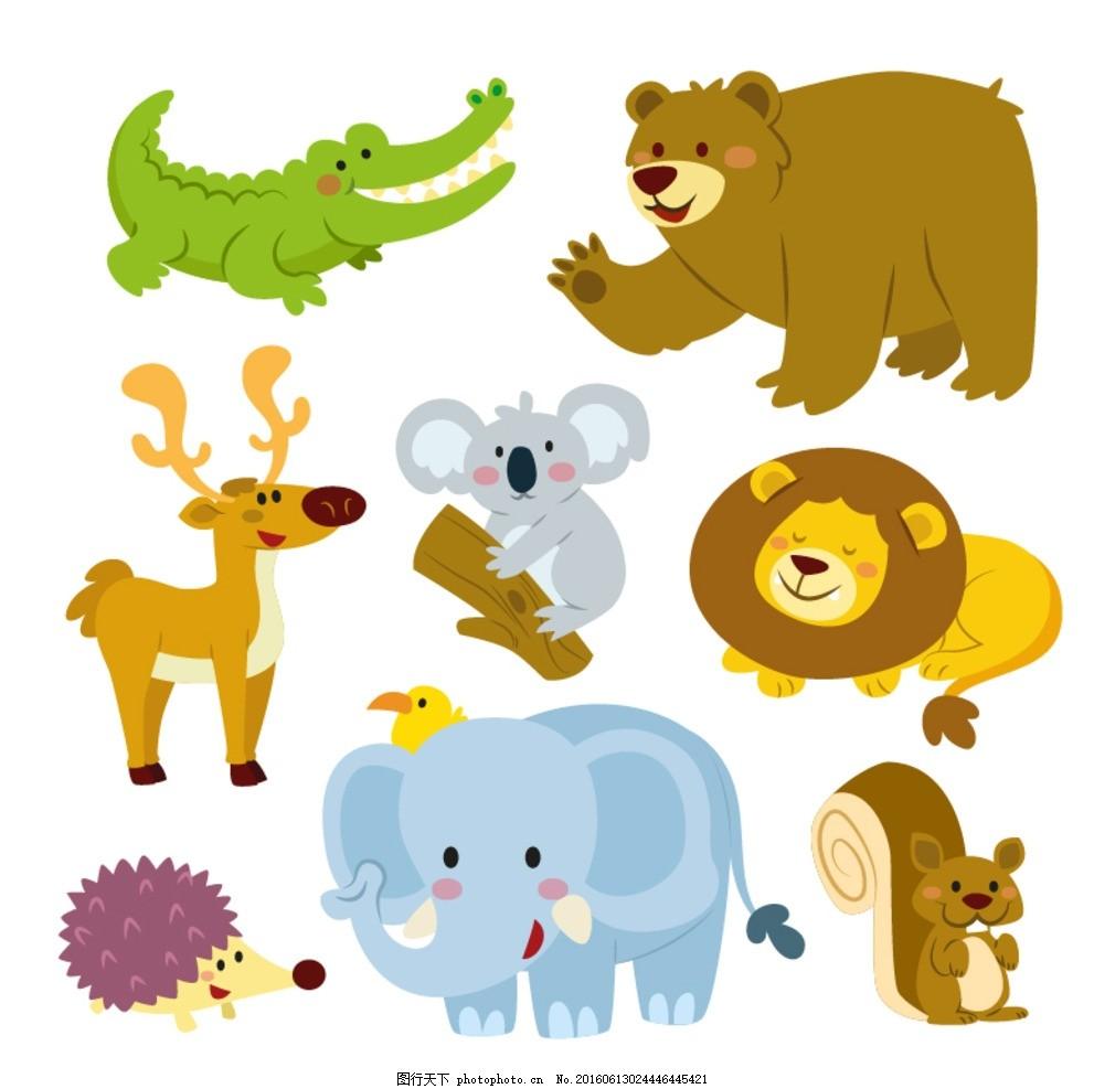 卡通动物 漫画动物 插画 图片素材      设计 生物世界 野生动物 人物