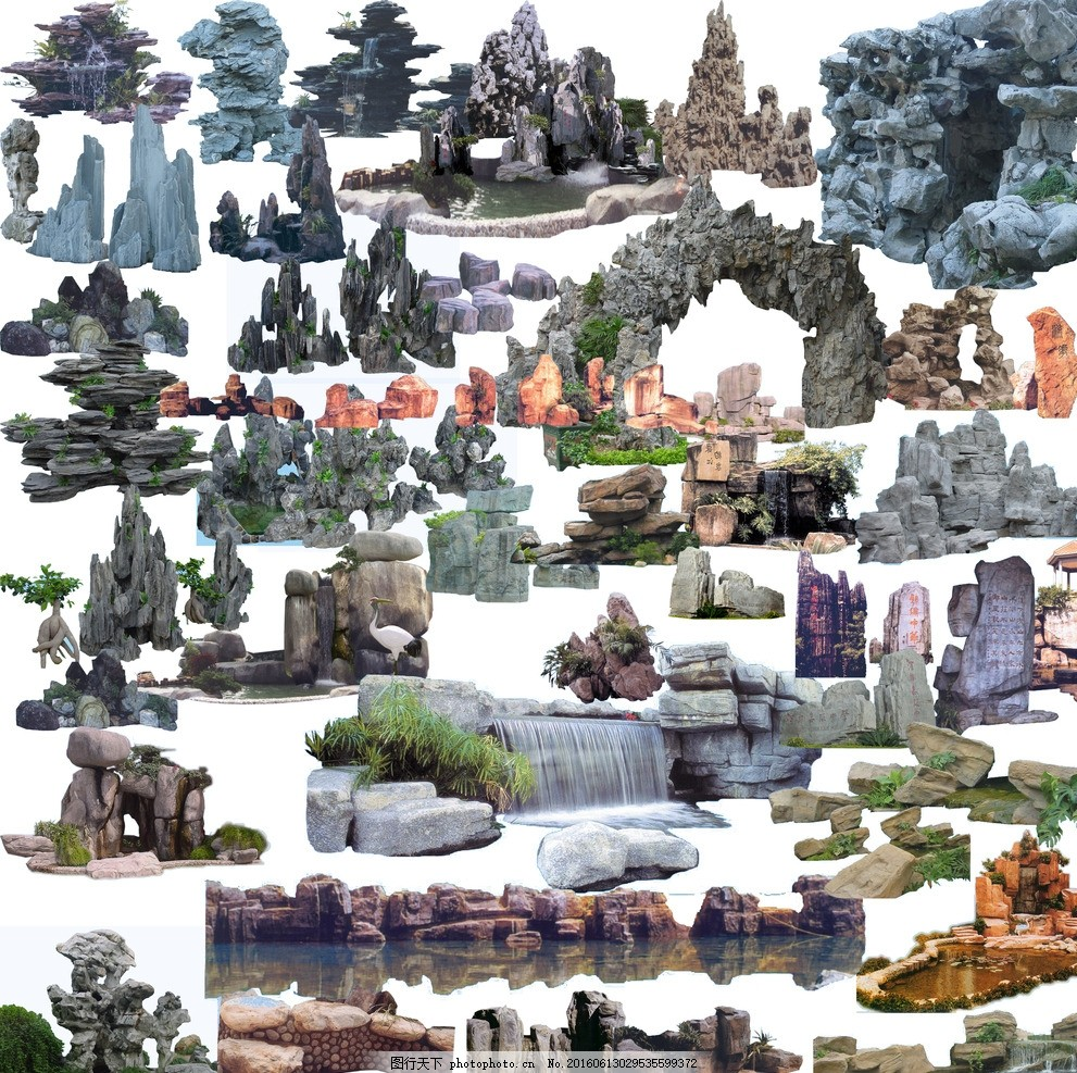彩泥手工制作假山图片