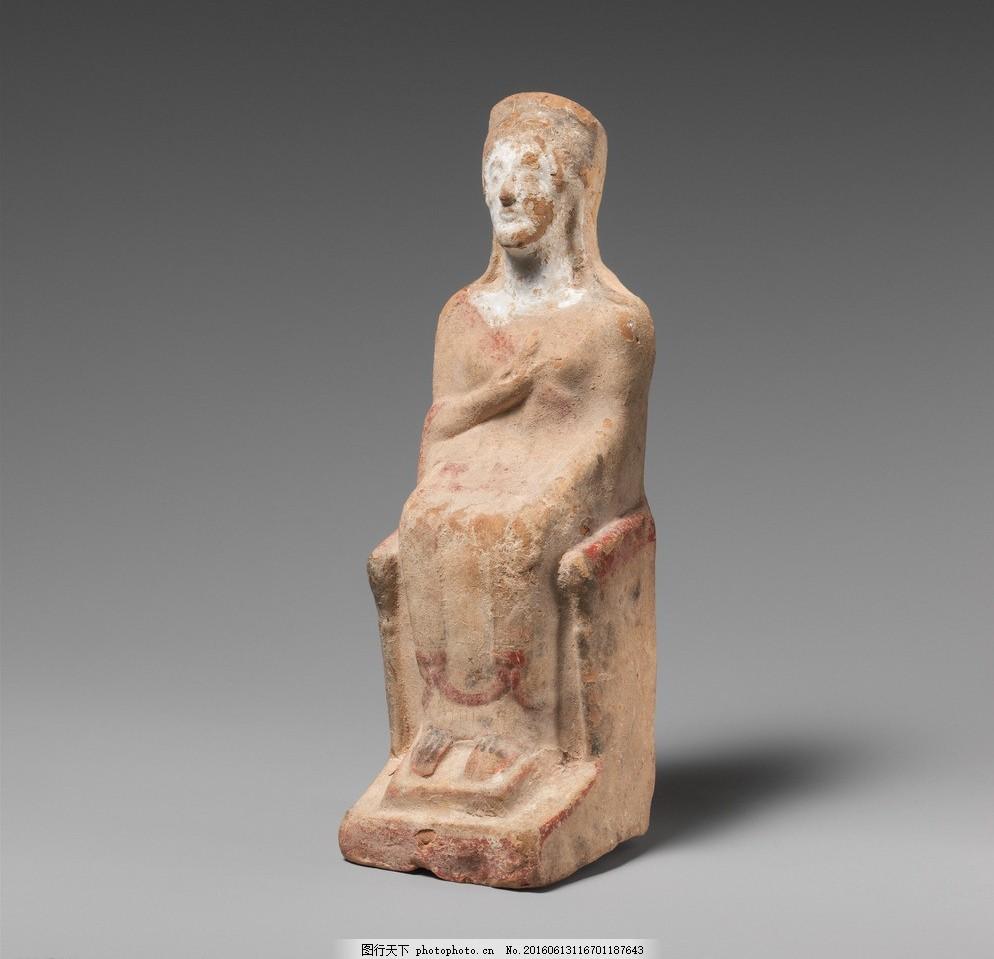 石雕 雕刻 雕塑 圆雕 人物 埃及 坐姿 女性 传统文化 文化艺术