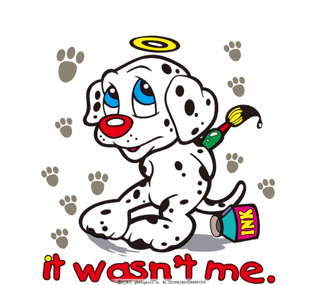 卡通封面 卡通 斑点狗 斑点 狗 卡通狗 漫画狗 t恤图案 卡通动物 手绘