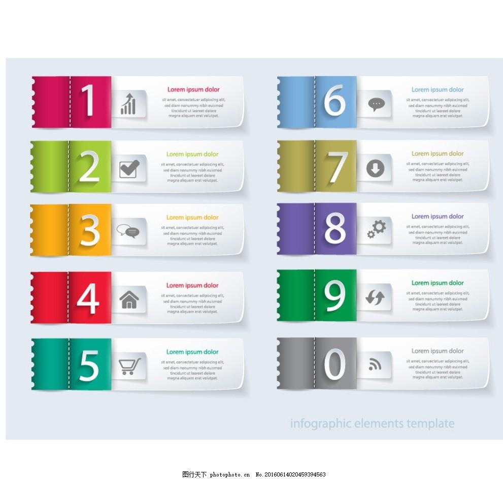 数字标签 序号 排序 步骤 分类 指示 网页标签 网页素材 网页设计