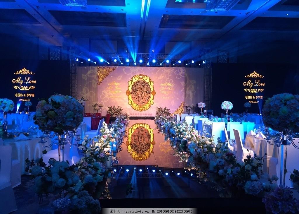 婚礼舞台造型 花艺 泡雕 镜面t台 大气 创意 摄影 文化艺术 节日庆祝