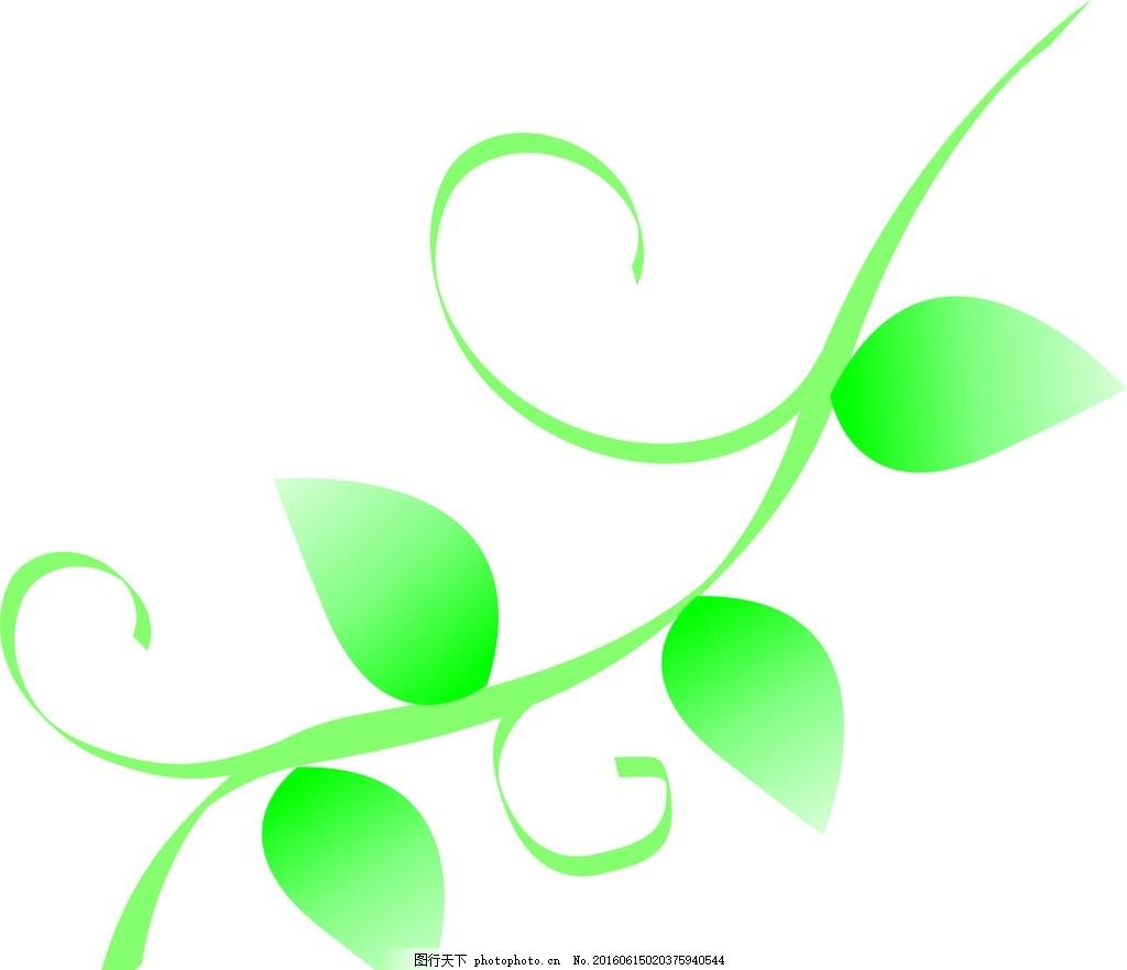 叶子藤 叶子 藤蔓 绿色叶子 花藤 设计 底纹边框 花边花纹 cdr