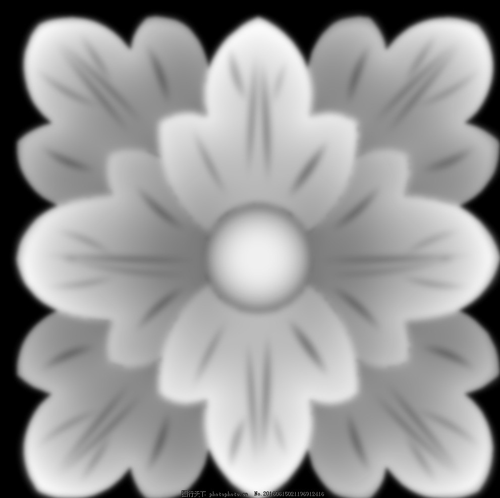 方块欧式门上床头洋花贴花灰度图 浮雕图设计 洋花门上花 镂空洋花