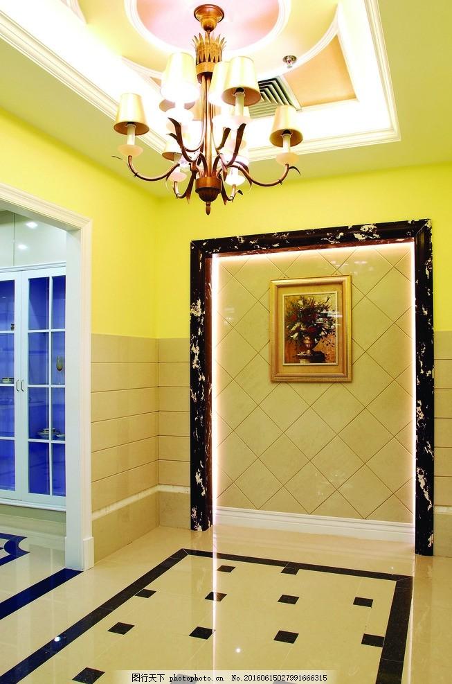 走廊 陶瓷 瓷砖 薄板 造型墙 豪华 欧式 陶瓷图片艺术 摄影