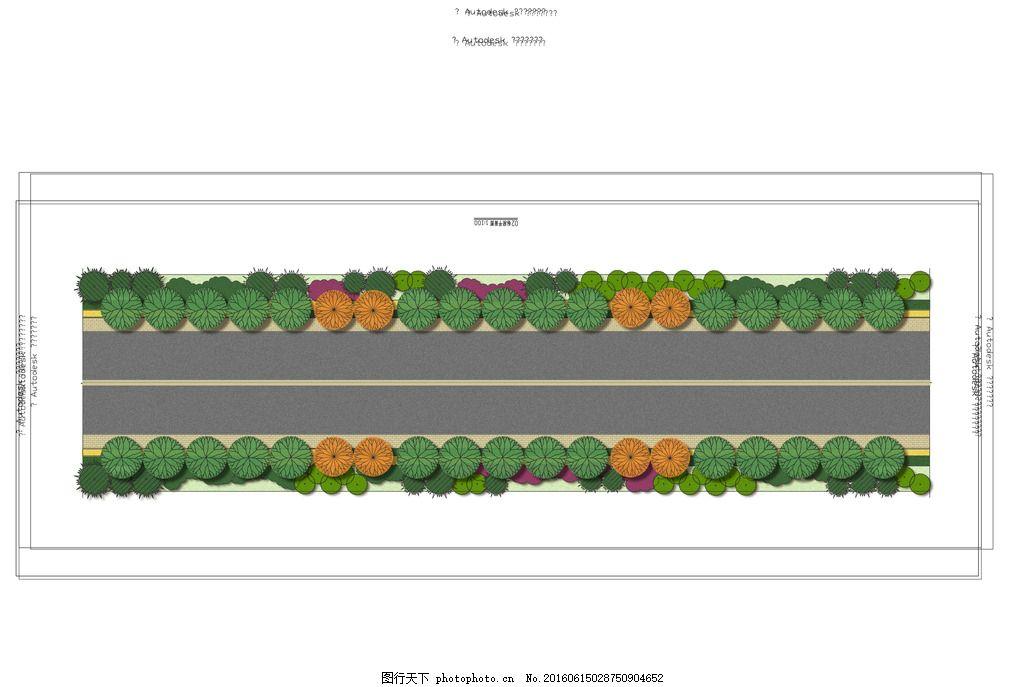 道路平面图 公路手绘图 平面施工图 标段施工图 剖面景观 手绘 断面图
