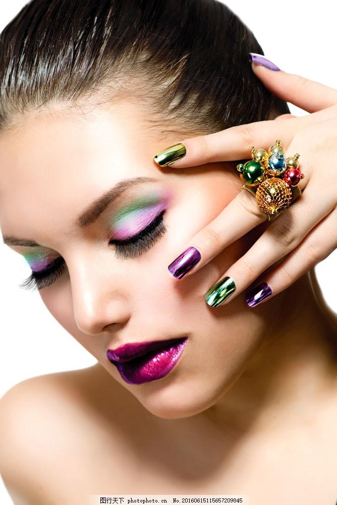 彩妆造型模特女人图片图片