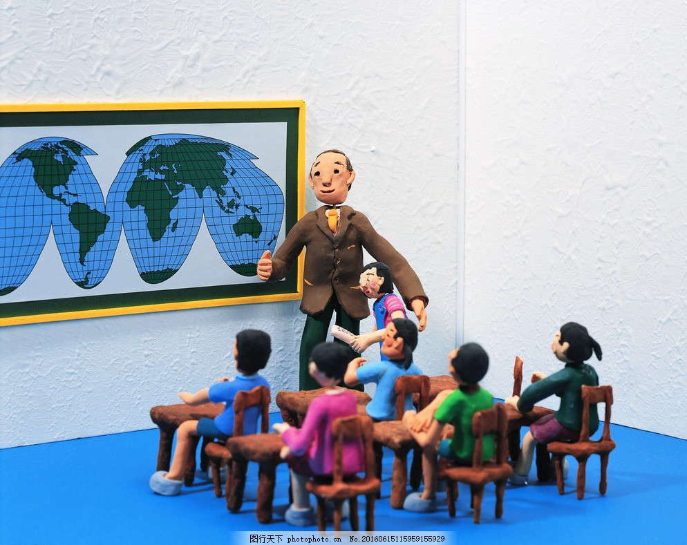 地理课 学校 学生 老师 卡通学生 卡通人物 学生上课 老师讲课 课桌