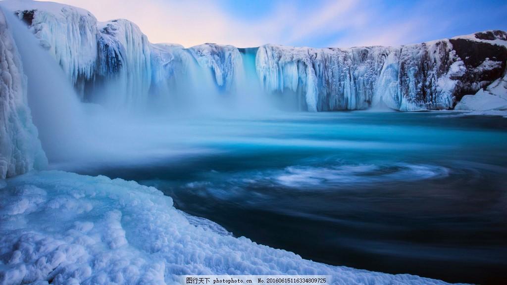 南极冰川风景图片