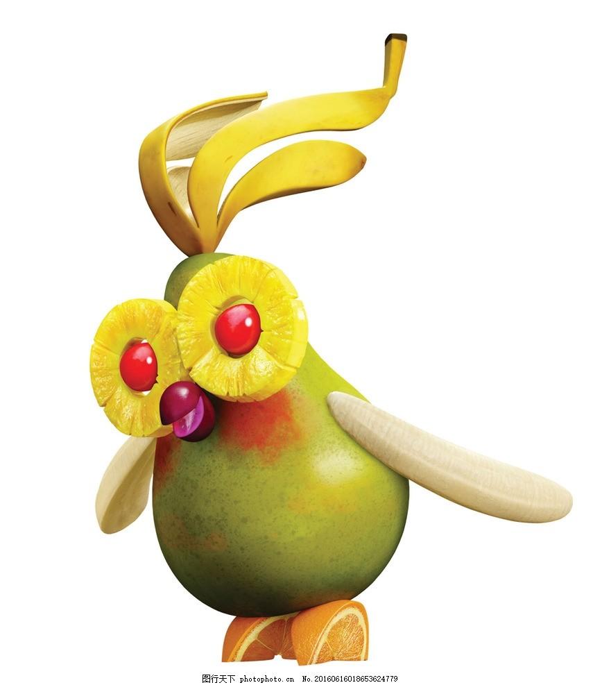 天降美食 水果世界 水果动物 鳄梨 香蕉 索尼动画 动画海报 动漫动画