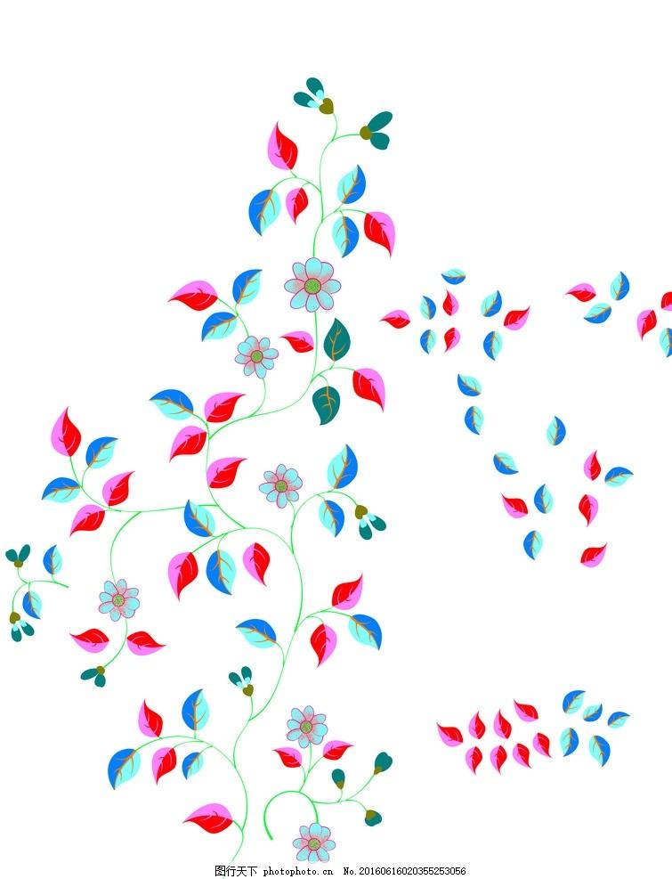 叶子小叶子 小叶子 未调色 小碎花 小清新 多 枝叶藤蔓 设计 底纹边框图片