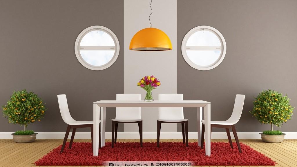 餐厅 西餐台 餐椅 瓷砖 吊顶 饰品 软装 花艺 室内 装修 欧式 古典
