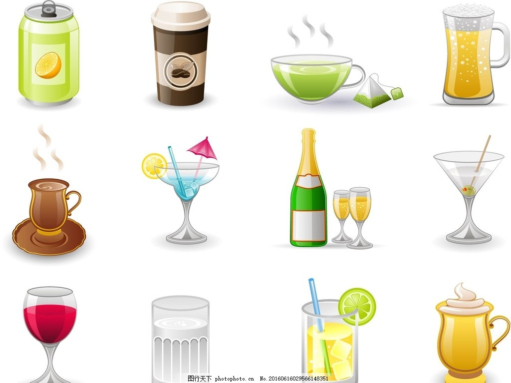 夏日水果饮料 果汁 水果饮料 柠檬饮料 缤纷饮料 手绘杯子 杯子 红