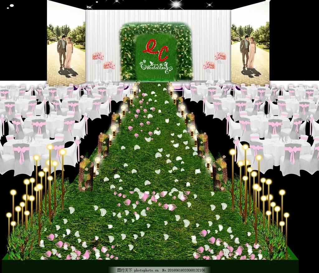 婚礼通道 签到 迎宾 展示 水牌 罗马花盆 欧式边框 花边 舞台 婚礼