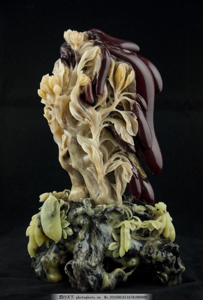 青田石雕茄子 大师作品 收藏品 艺术品 朱砂石 俏色 传统文化