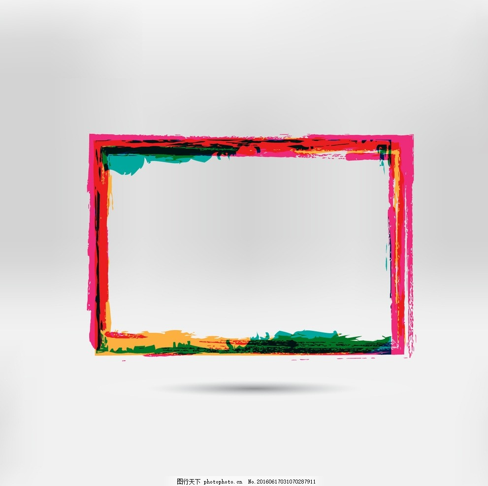 彩色手绘画框