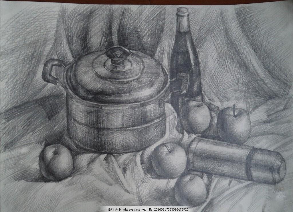 素描静物 静物画 素描画 绘画 文化艺术 绘画书法