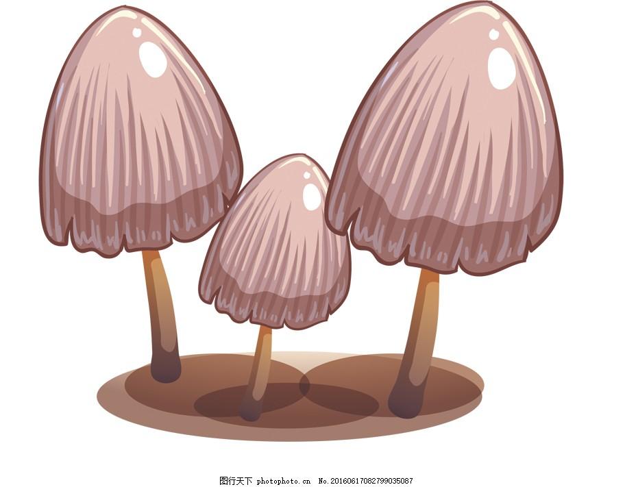 可爱蘑菇卡通psd免抠图
