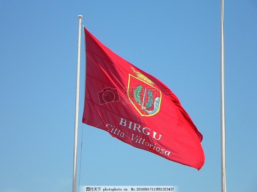 飘扬的红色旗帜
