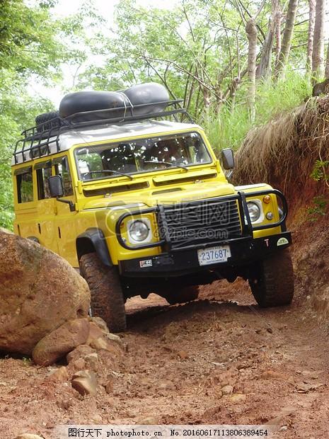 越野车 路虎 石 泥路 强硬 障碍 冒险 哥斯达黎加 反悔的路