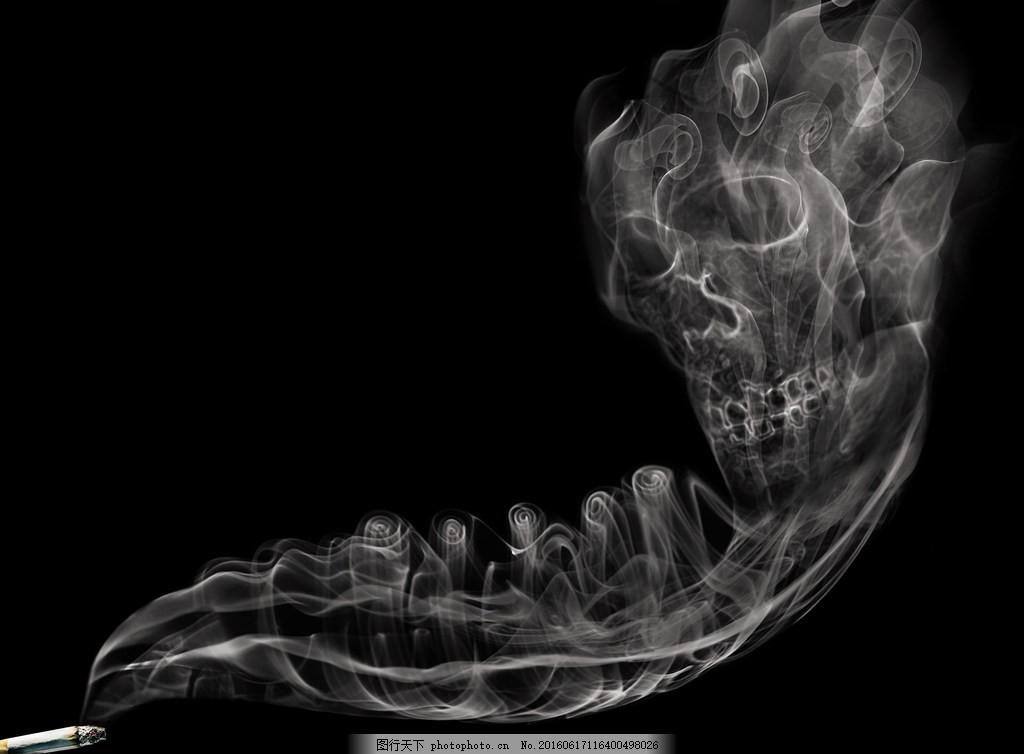 创意恐怖烟雾 创意恐怖烟雾高清图片下载 禁烟海报 戒烟 雾气图片