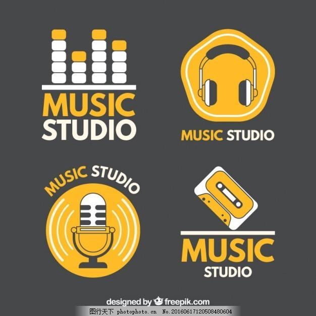音乐工作室的标志图片