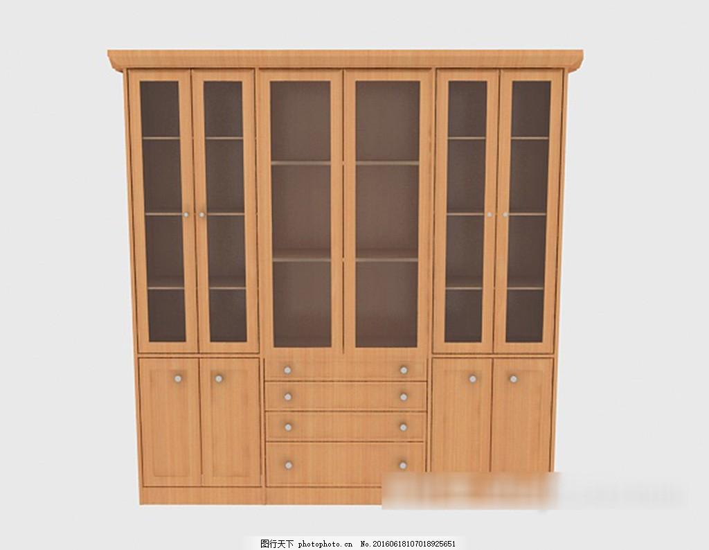 办公大书柜3d模型下载 3d模型 3d模型下载 模型 欧式风格 室内设计