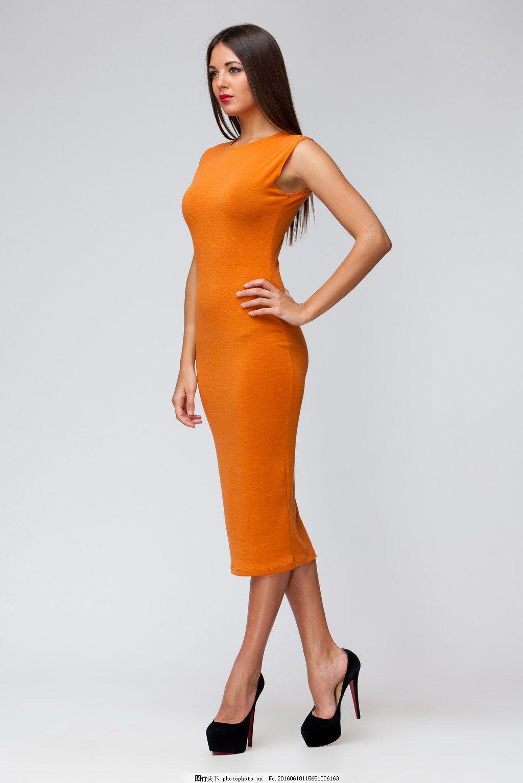 服装模特美女写真 连衣裙 长裙 套裙 长腿