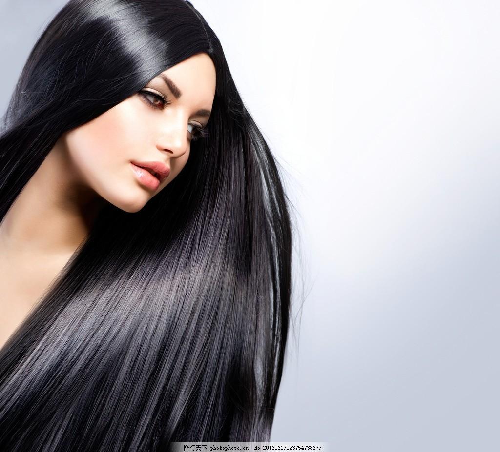 长发美女 黑发美女 黑长发美女 长发 黑长发 黑发 发型 直发 长直发图片