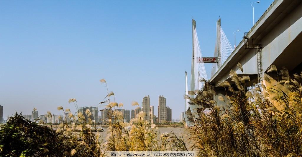 武汉风景建筑 武汉 江滩 城市 美景 蓝天 碧水 建筑园林 建筑摄影