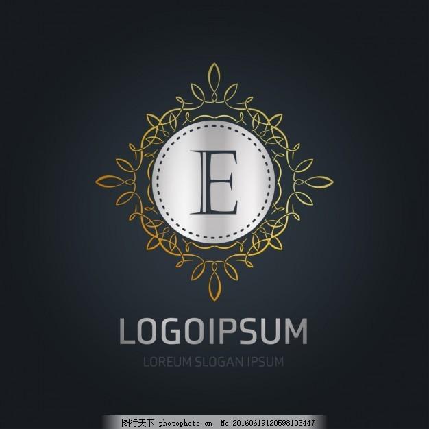 框架银与黄金标志室内设计找图网图片