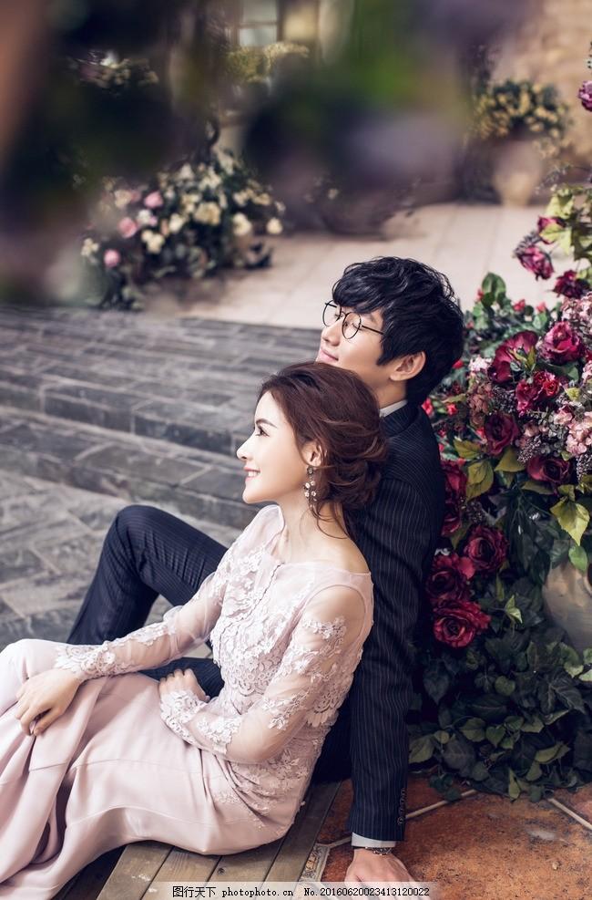 韩式婚纱照 枫叶 路灯 欧式 中式 双人 结婚照 婚纱摄影 黑白