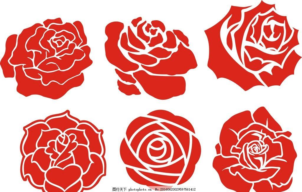 玫瑰花 抽象 黑白玫瑰花 线条 玫瑰花卉 手绘玫瑰 古典 时尚