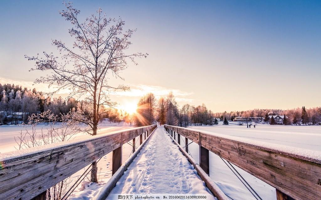 雪景图片大全 美丽的雪景图片 冬天雪景图片 冬天背景 蓝天
