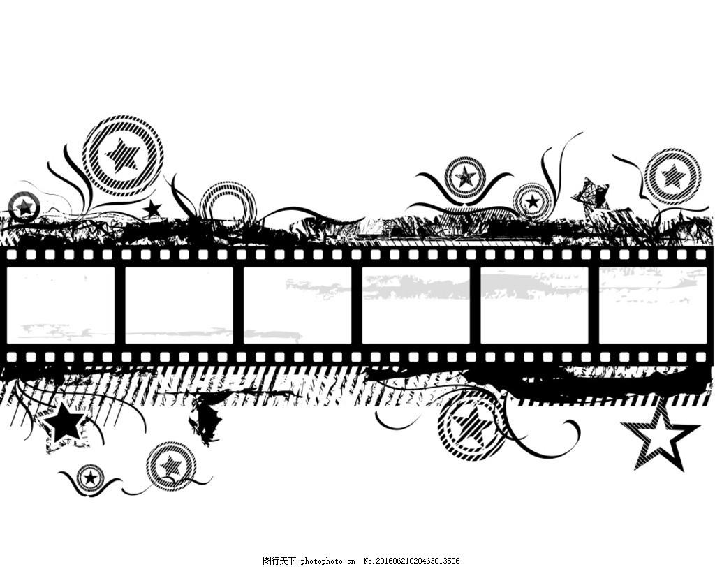 黑白色电影胶带