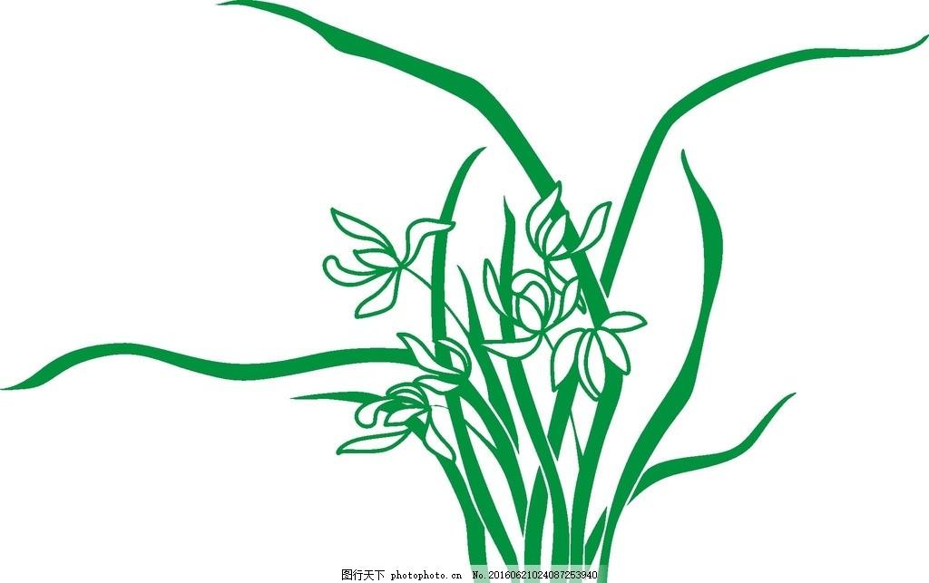 花草 小草 草草 矢量 兰花 绿色 夏天 春天 图案图片