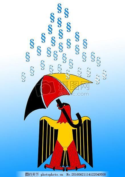 抽象画面中的动物 阿德勒 纹章的动物 联邦鹰 伞 国旗 标志 黑色