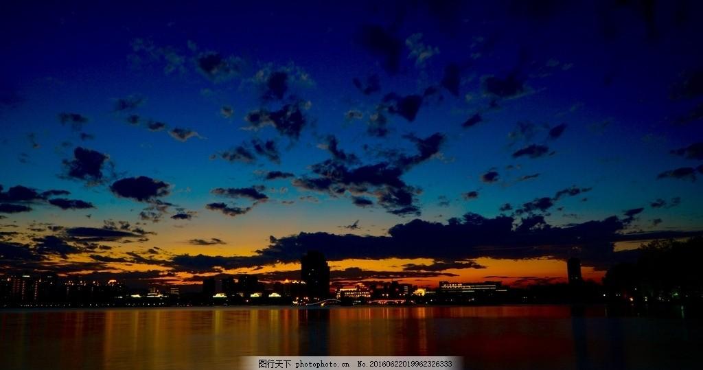 瓜渚湖晚霞 紹興黃昏 柯橋 瓜渚湖夜景 湖畔 攝影 自然景觀 自然風景