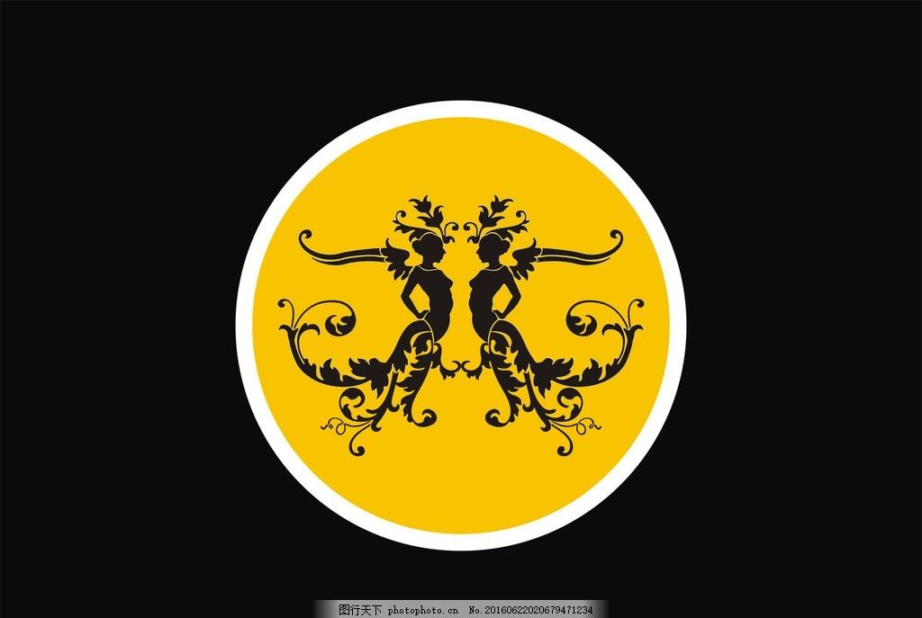 瓷纹 陶瓷 纹路 花纹 logo 标志 简易 设计 底纹边框 抽象底纹 cdr