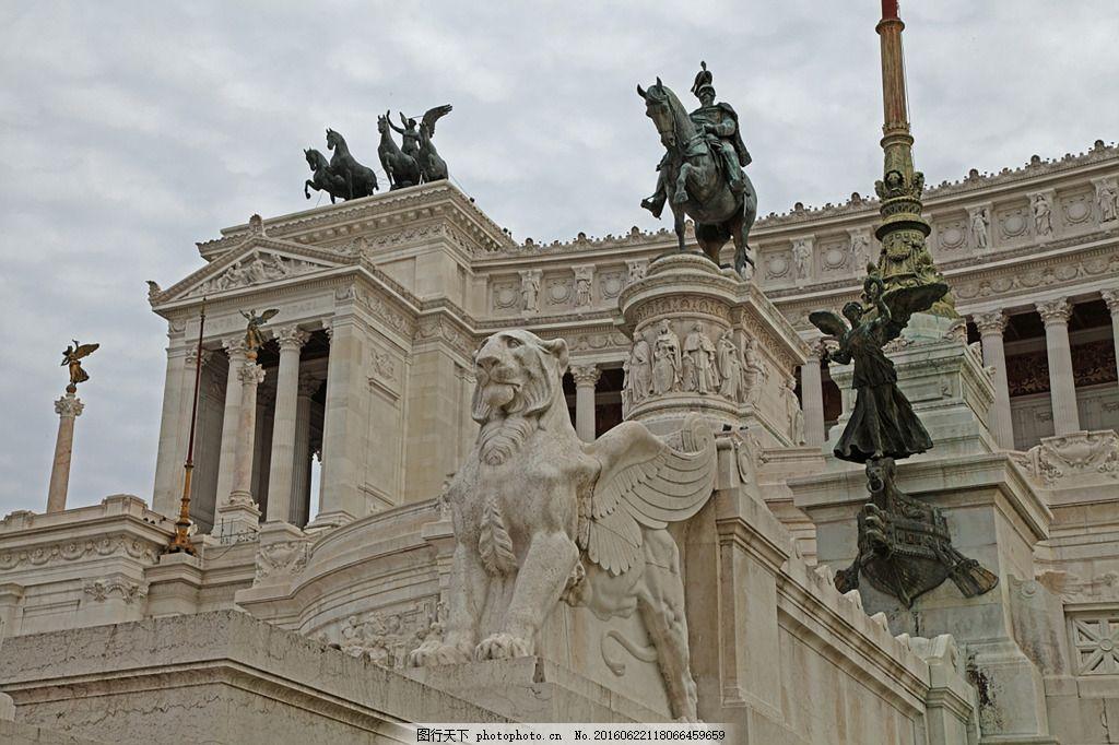 欧洲中世纪骑士雕像古典建筑海报