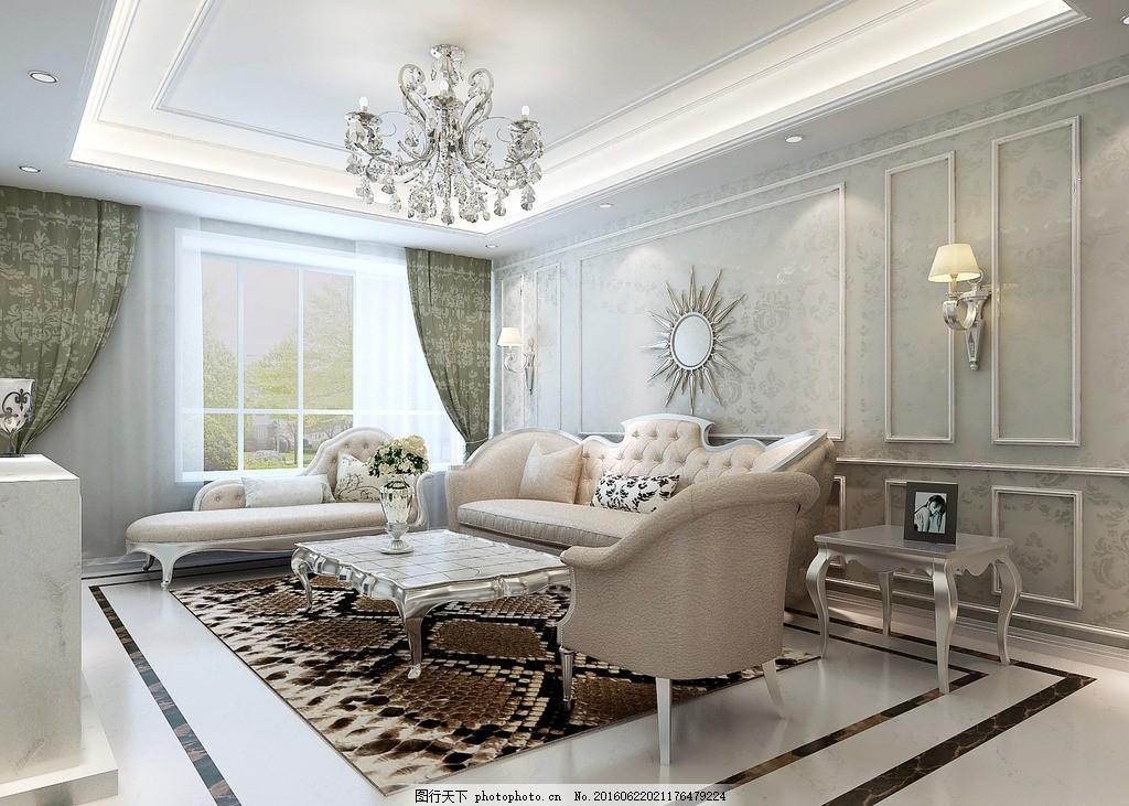 沙发背景墙 漂亮 欧式 低调 奢华图片