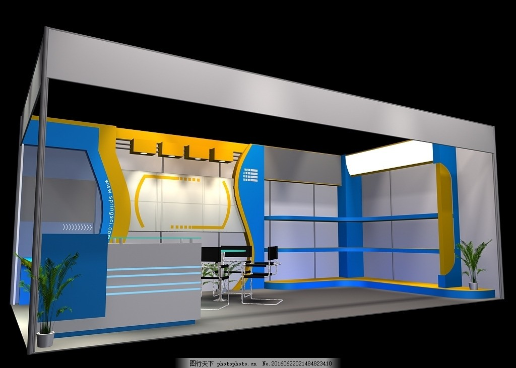 展台 展览 展厅设计 工装 特装 源文件 毕业作品 模型设计 模型