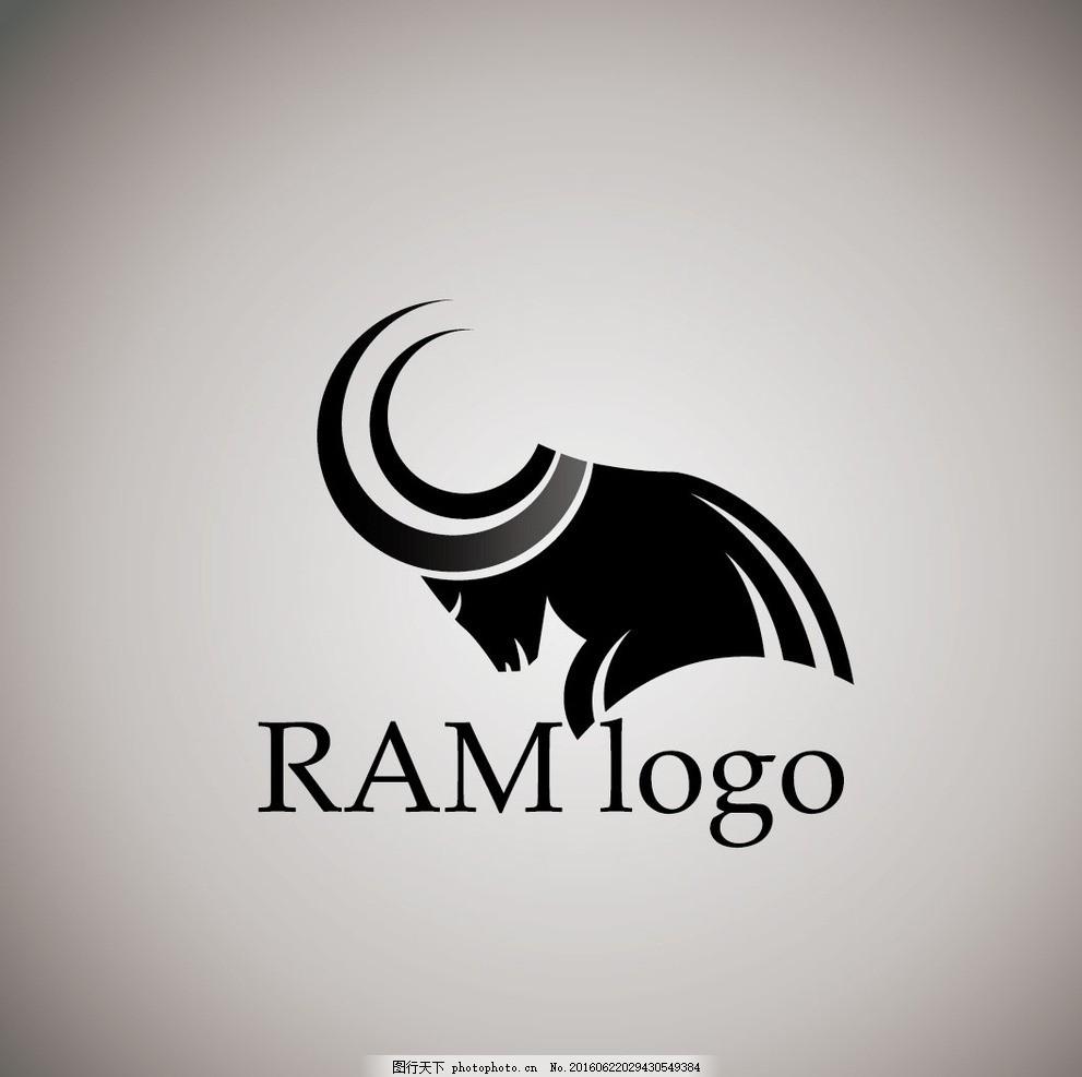 动物logo 个性创意标志 几何图形标志 商标设计 行业标志 标志图标