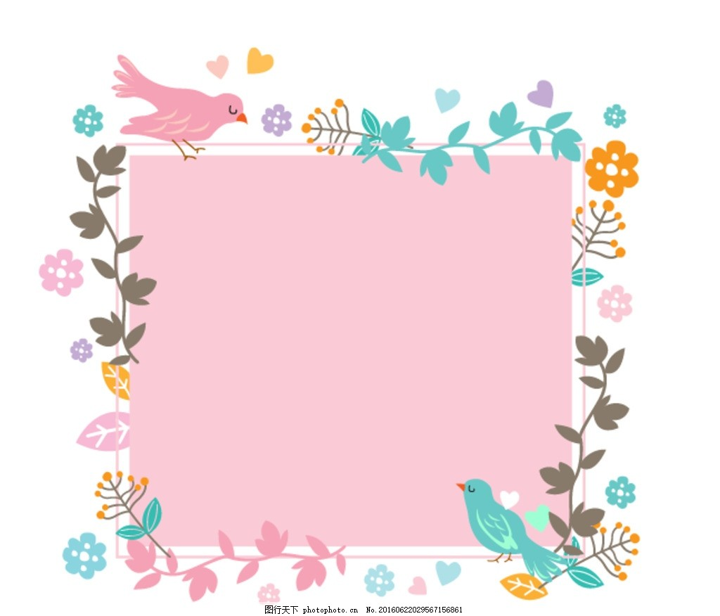圆形 花朵相框 花边 边框 相框 矢量 潮流 唯美 时尚 花藤 圆形边框