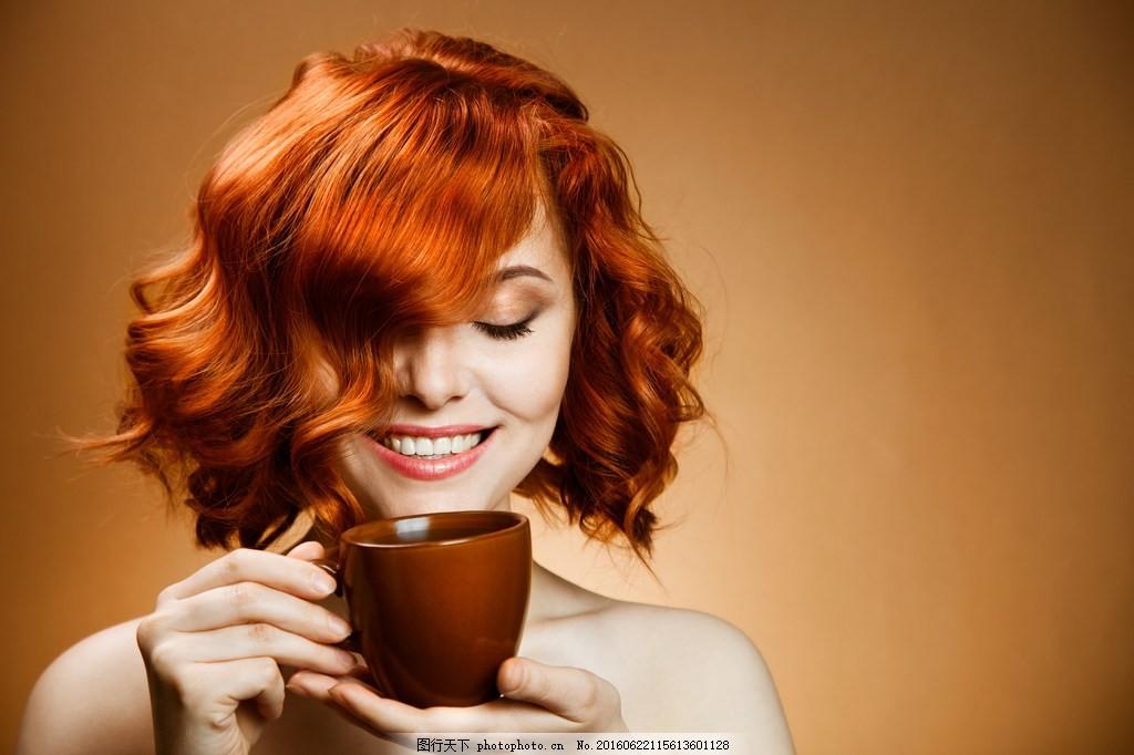 韩式短发烫发发型 美女 女生 韩式发型图片