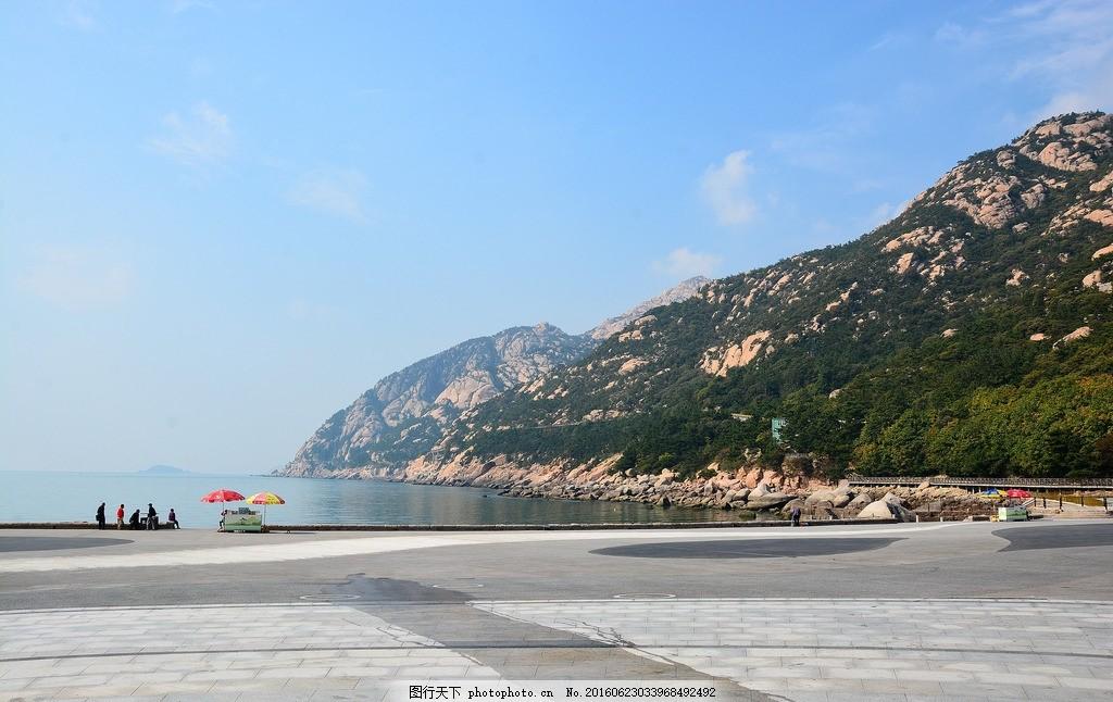 山东省 青岛市 大海 海滩 沙滩 海边 崂山 高楼大厦 都市样貌 城市