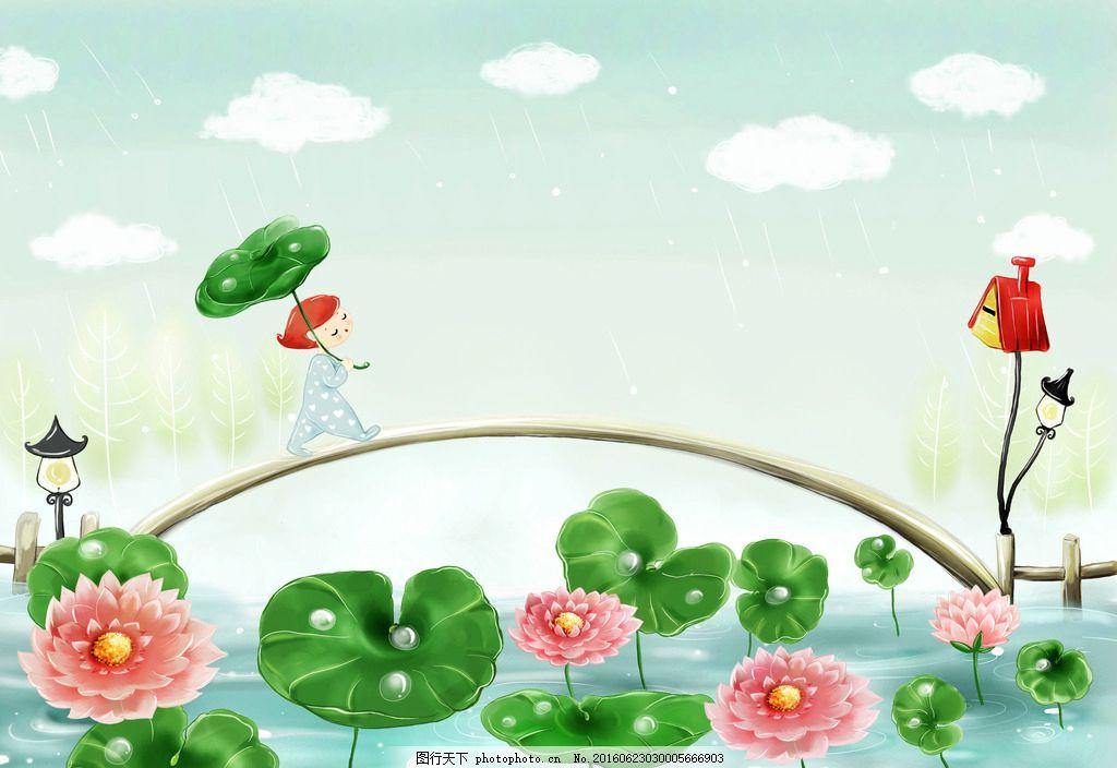 日本风景插画 唯美风景插画 动漫插画 插画设计 插画 卡通 时尚插画