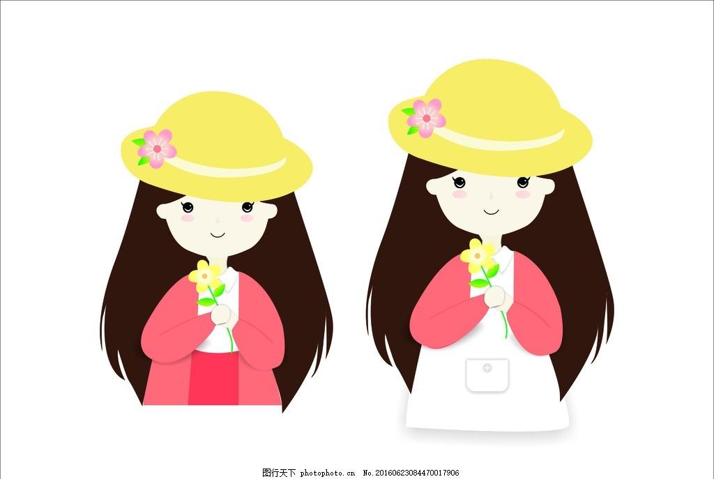 长发小女孩捧花