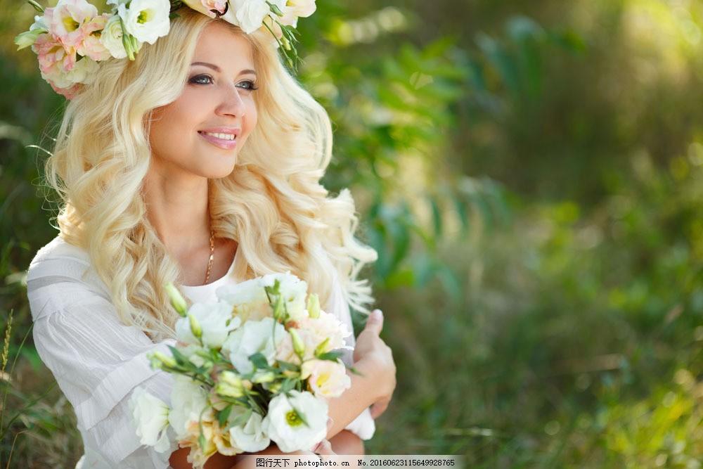 花仙子美女图片素材 花朵 鲜花 时尚美女 青春女孩 美女模特 欧美女人